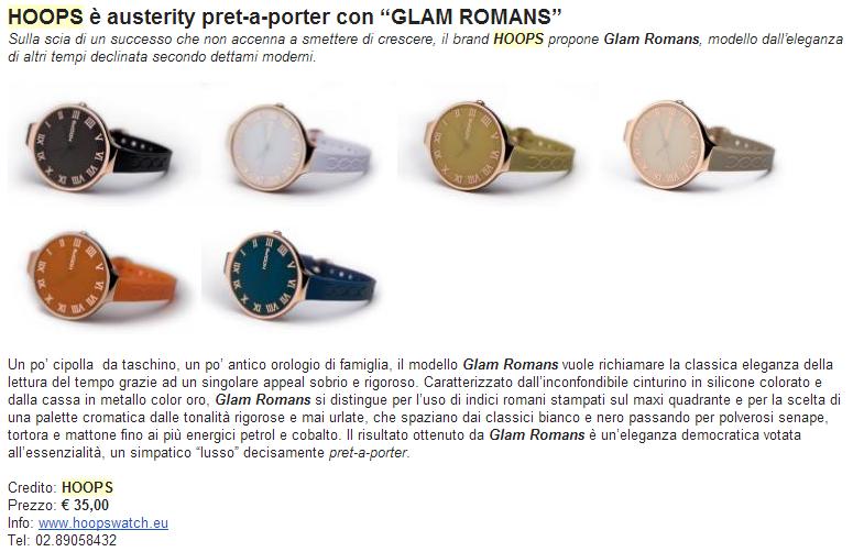 HOOPS glam romans